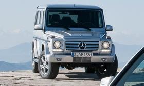 A glimpse of the restyled 2013 Mercedes-Benz G-class. Photo courtesy of Autoweek.