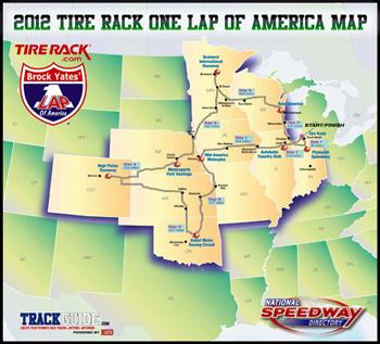 One Lap Map. Image courtesy One Lap of America.