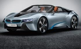 A front view of the BMW i8 Spyder. Photo by BMW.