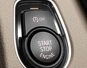 Auto start/stop button on the 2012 BMW 3-Series, (c) BMW