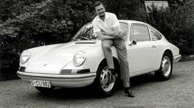 Butzi Porsche will be remembered for designing the Porsche 911. Photo by Porsche.
