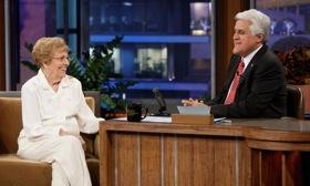 Rachel Veitch talks cars during a 2010 appearance on The Tonight Show with Jay Leno. Photo: NBC Universal.