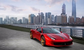 Gold wheels and gold winglets accent the special edition. Photo by Ferrari.