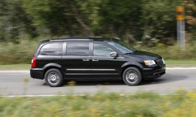 The Chrysler Town & Country (shown) and the Dodge Caravan are being recalled for wheel-bearing problems. Photo by Chrysler.