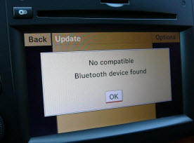 Bluetooth system in a Mercedes-Benz