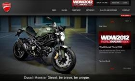 Ducati's lineup includes the Monster. Photo by Ducati.