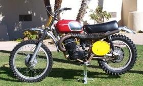 Steve McQueen's 1970 Husqvarna 400 Cross will be on display at the Greystone Mansion concours. Photo courtesy of Autoweek.
