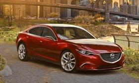 Mazda is dropping the V6 for the next generation Mazda6 sedan. Photo by Mazda.