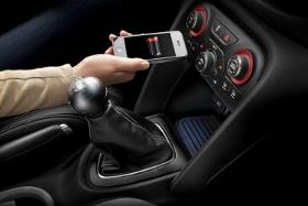 Dodge wireless charging. Photo by Chrysler.