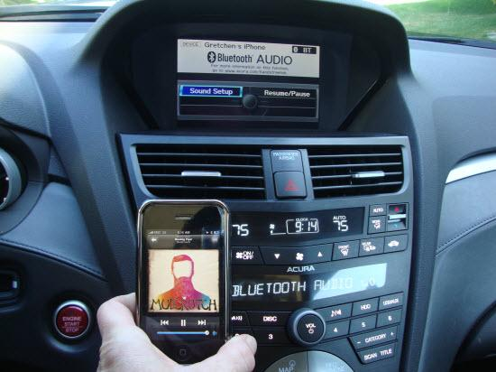 Bluetooth audio in an Acura ZDX
