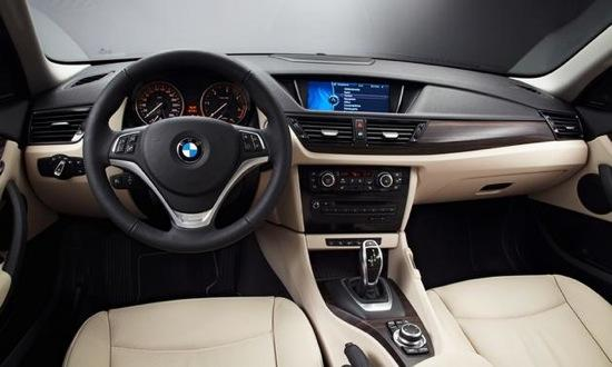 The cabin of the 2013 BMW X1. Photo by BMW.