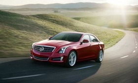 Power for the base-model Cadillac ATS will come from a 2.5-liter, four-cylinder engine that returns 30 mpg on the highway. Photo by Cadillac.