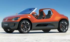 Volkswagen unveiled the Buggy Up, based on the Up minicar, at the 2011 Frankfurt motor show. Photo by Volkswagen.