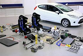 Ford Fiesta with rally parts (c) Ford
