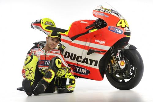 Valentino Rossi and Ducati. Image courtesy Ducati.