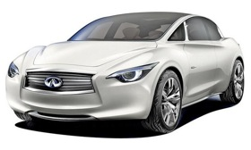 Infiniti's entry-level car will take styling cues from the Etherea concept car, shown.
