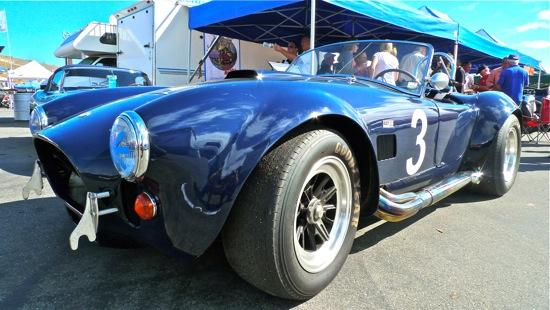A classic Shelby Cobra at Mazda Raceway Laguna Seca. Photo by Josh Condon.