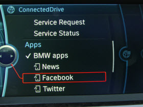 BMW Apps in a 2012 BMW 650i.
