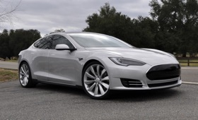The Tesla Model S. Photo by Tesla.