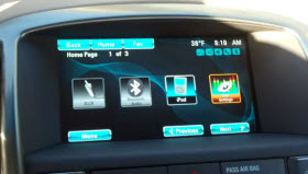 Buick IntelliLink home screen customization feature.