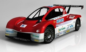 The Mitsubishi i MiEV Evolution Pikes Peak Car. Photo by Mitsubishi.