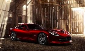 The 2013 SRT Viper arrives late this year with V10 power and an upgraded cabin. Photo by Dodge.