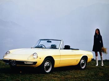 1967 Alfa Romeo Spider. Image courtesy Alfa Romeo. 