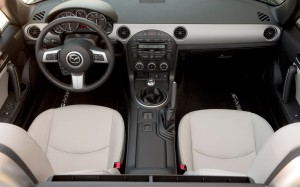 2012 Mazda MX-5 Interior. Image courtesy Mazda.
