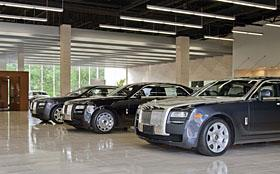 Rolls-Royce dealership in Long Island, New York. (c) BMW