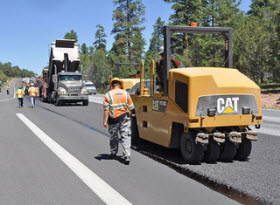 Road Paving. Photo by Flikr user Grand Canyon NPS.