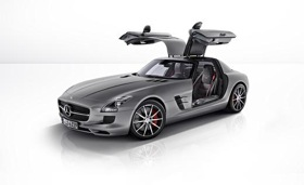 Mercedes-Benz SLS AMG GT coupe. Photo by Mercedes-Benz.