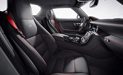 The interior of the Mercedes-Benz SLS AMG GT. Photo by Mercedes-Benz.