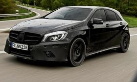 The Mercedes-Benz A45 AMG packs a 330-hp four-cylinder engine. Photo courtesy of Autoweek.