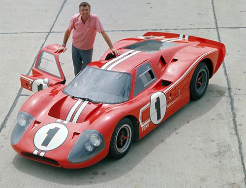 Carroll Shelby and a Ford GT40. Image courtesy Ford.