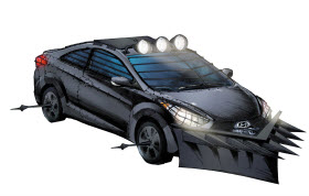 Hyundai Elantra Coupe Zombie Survival Machine. Image by Hyundai. 