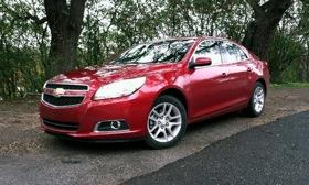 The 2013 Chevy Malibu Eco has a supremely quiet ride. Photo by Jake Lingeman.