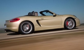 The Porsche Boxster will anchor the lower end of the German sports-car maker's lineup. Photo by Porsche.&#xA;