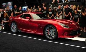 The first 2013 SRT Viper was sold at Barrett-Jackson for $300,000. Photo by Barret-Jackson.