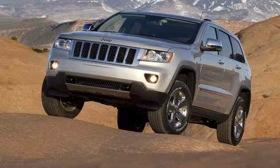 Production of the 2013 Jeep Grand Cherokee begins in August. A 2012 model is shown. Photo by Jeep.&#10;