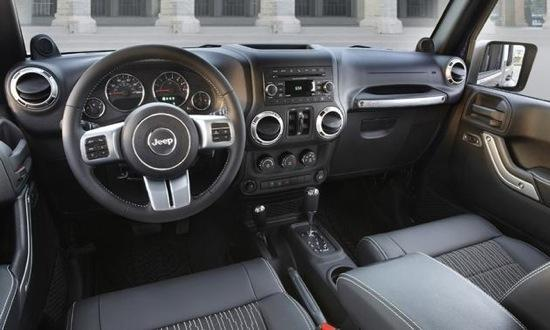 The interior of the Jeep Wrangler Freedom is upgraded as well. Photo by Jeep.