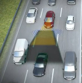 Ford Traffic Jam Assist. Image by Ford.