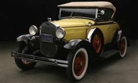 This 1930 Ford Model A roadster was stolen from the Henry Ford museum parking lot June 26. Photo by Dearborn Police Department.&#xA;