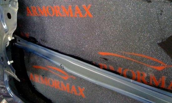 Armormax, a blend of synthetic fibers and laminates, provides the protection of steel without adding the weight of heavy steel plate. Photo by International Armoring Corporation.