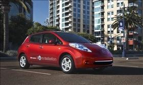 The Nissan Leaf. Photo by Nissan.