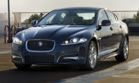 Jaguar will put a turbocharged four-cylinder engine in the XF sedan. Photo by Jaguar.