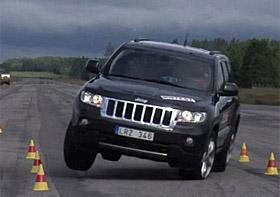 Jeep Grand Cherokee moose test (c) Teknikens Varld