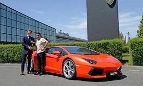 On July 19, Lamborghini built the 1,000th Aventador. It was delivered to buyer Hans Scheidecker, a German architect and multicar owner. His other Lamborghini is a Diablo. Photo by Lamborghini.