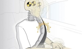 Inflatable seatbelts help spread crash forces over a larger area of a person's torso. Image courtesy of Autoweek.