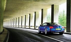 A rear view of the 2013 Bentley Continental GT Speed. Photo by Bentley.