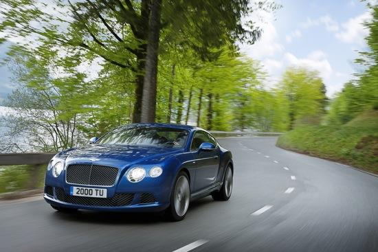 The 2013 Bentley Continental GT Speed is the fastest production Bentley ever made. Photo by Bentley.